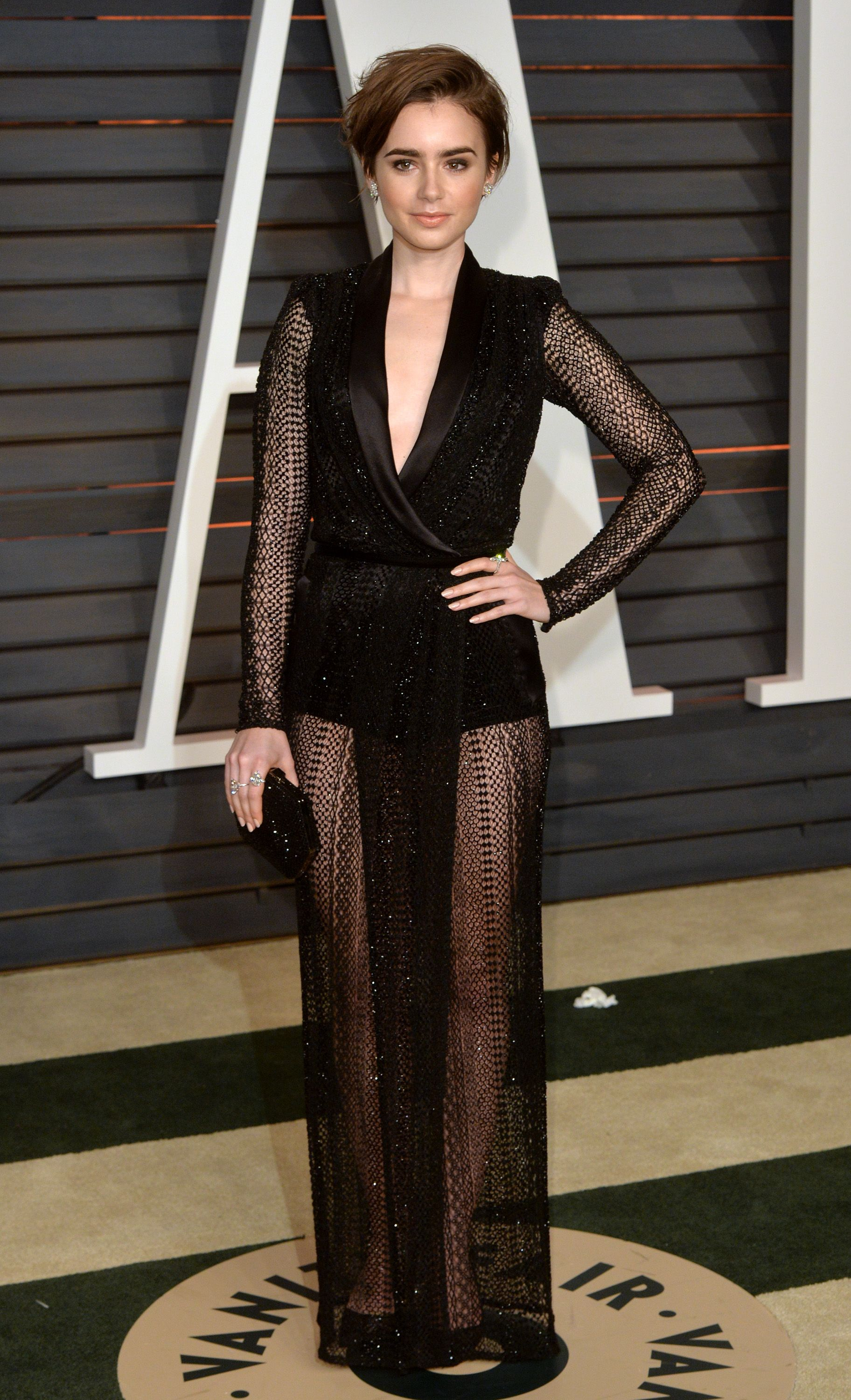 51daad22801b3c Lily Collins' Style File - Every One Of Lily Collins' Red Carpet Outfits