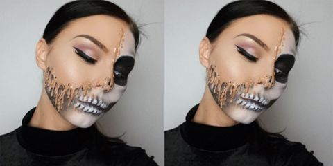 Melted Face Halloween Make-Up