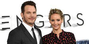 Chris Pratt and Jennifer Lawrence | ELLE UK