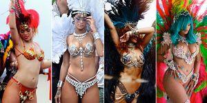 Rihanna's carnival outfits