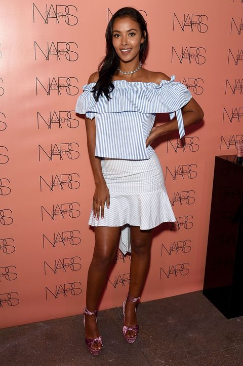 Maya Jama attends cosmetics brand NARs summer party alongside VIP friends and fans of the brand at Protein on June 29, 2017 in London | ELLE UK