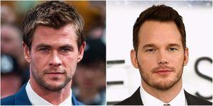 Chris Hemsworth and Chris Pratt | ELLE UK