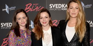 Alexis Bledel, writer/director/producer Amber Tamblyn, and Blake Lively attend the 'Paint It Black' New York premiere at The Museum of Modern Art in May, 2017 in New York City | ELLE UK