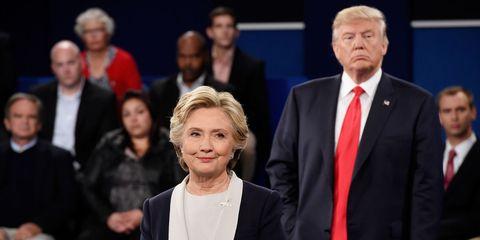 Hillary Clinton and President Donald Trump | ELLE UK