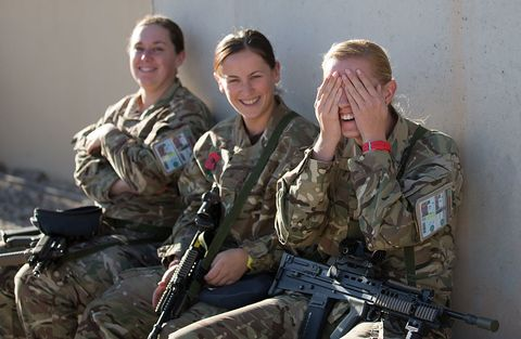 Female soldiers in British Army