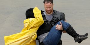 Hurricane Harvey man carrying woman