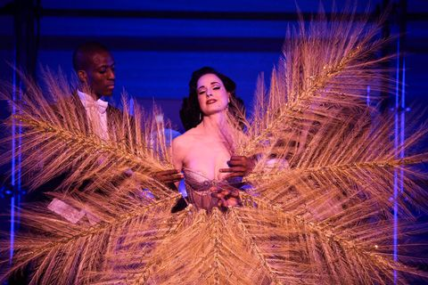 244603309ca Dita Von Teese performs on stage for the Philipp Plein Spring 2018 show  during New York