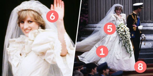 10 Hidden Details You Didn't Know About Princess Diana's Wedding Dress