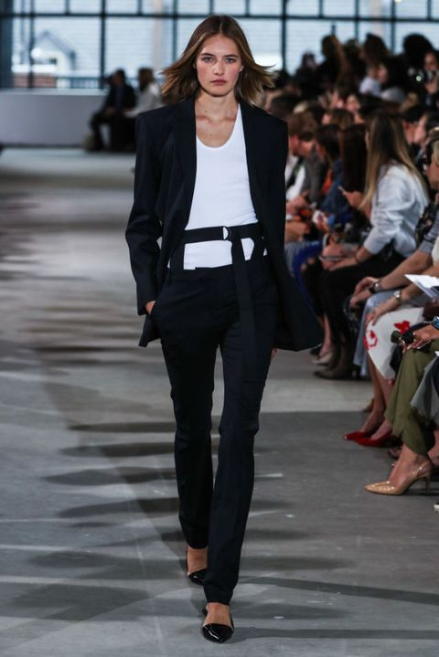 A model walks the runway wearing Tibi Spring 2018 during New York Fashion Week on September 9, 2017 in New York City | ELLE UK