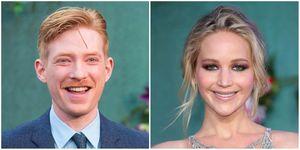 Domhnall Gleeson and Jennifer Lawrence | ELLE UK