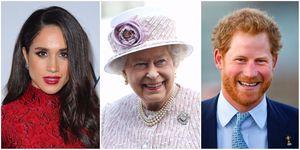 Meghan Markle, The Queen, Prince Harry   ELLE UK