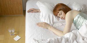 woman sleeping pills - emergency contraception