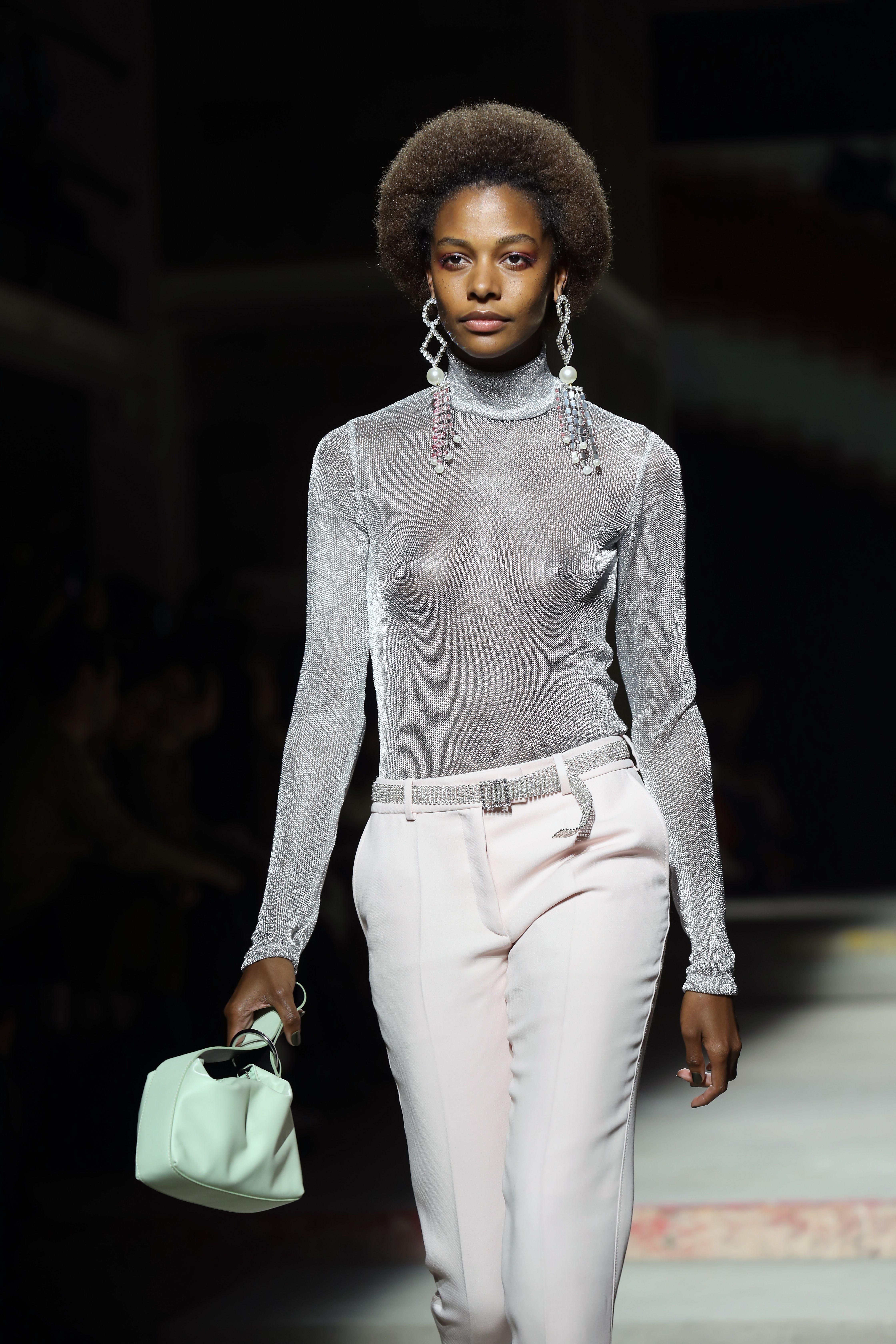 Topshop ss18 london fashion week metallic