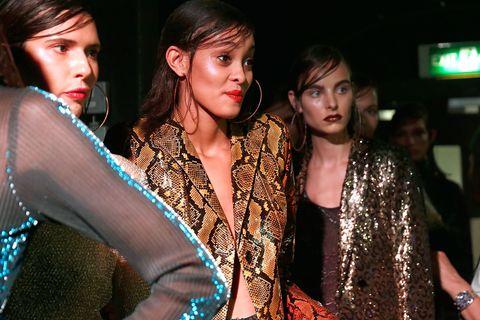 michael halpern ss18 glitter london fashion week