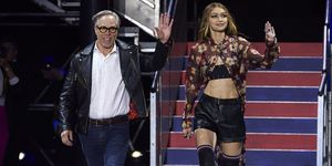 Tommy Hilfiger and Gigi Hadid at London Fashion Week