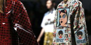 prada ss18 milan fashion week cartoon coat