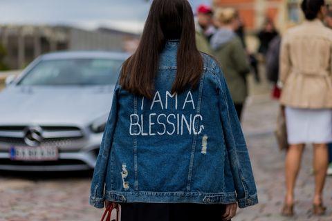 Clothing, Street fashion, Jeans, Denim, Fashion, Textile, Waist, Car, Outerwear, Vehicle,
