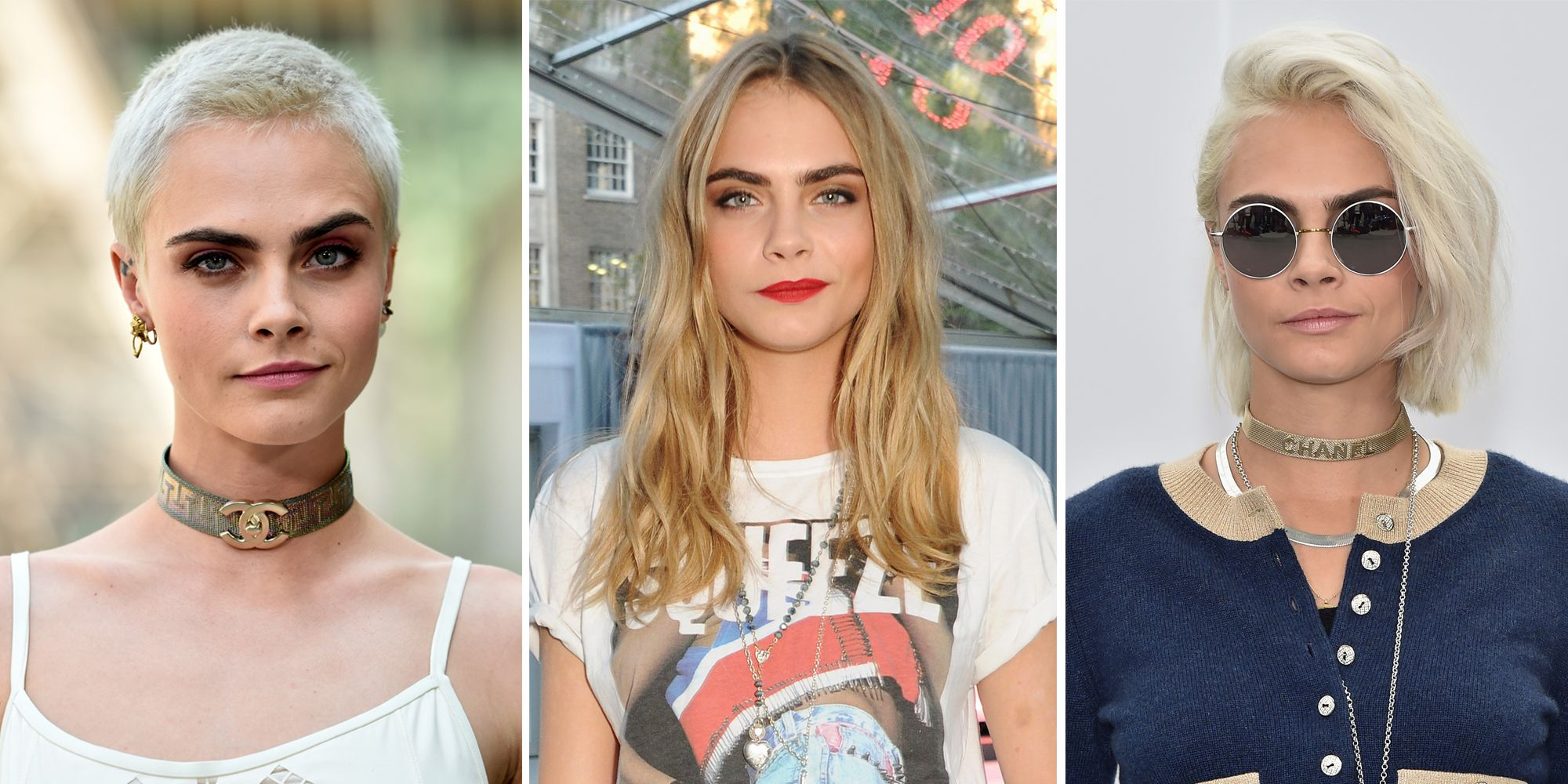 bcf99387924 Cara Delevingne s Hair Evolution - From Uber Long To Buzzcut And Everything  In Between