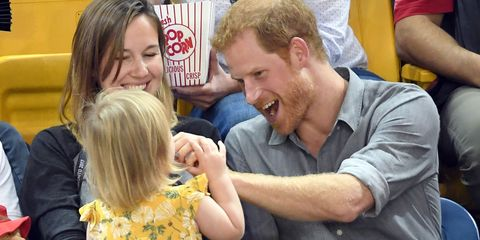 Prince Harry and toddler | ELLE UK