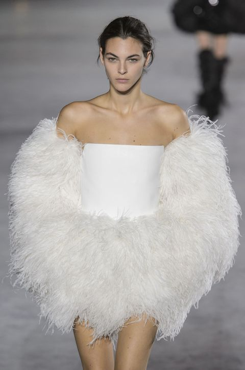 Saint Laurent ss18 white feathers