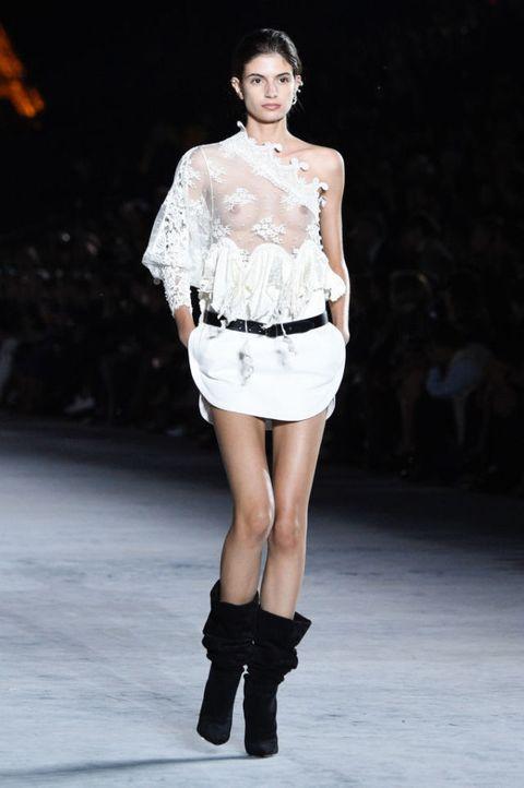 Saint Laurent SS18 runway at Paris Fashion Week  | ELLE UK