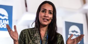 Arabian Women's Rights Activist Manal Al-sharif Attends the International Conference Forum 2000 in Prague Czech Republic 17 September 2016 | ELLE UK