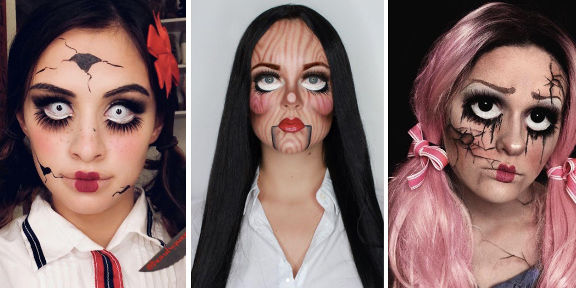 11 halloween doll make-up ideas