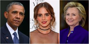 Obama, Emma Watson and Hillary Clinton