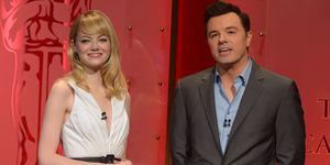 Emma Stone and Seth MacFarlane at the 2013 Oscars