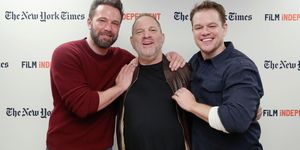 Ben Affleck, Harvey Weinstein and Matt Damon
