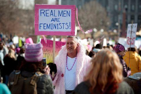 Man on Women's March