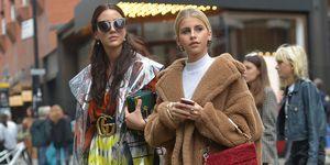 Two women in coats