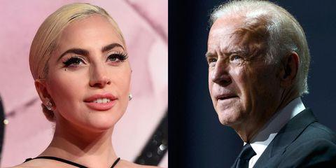 Lady Gaga and Joe Biden | ELLE UK