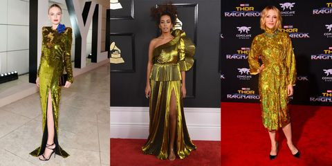 19ccea0bd50 6 Ways To Wear SS18 s 80s Glam Trend Via The Celebs Working Full On   Dynasty  Vibes
