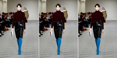 Balenciaga car mat skirt