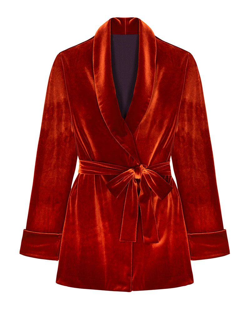 velvet smoking jacket - christmas party outfit
