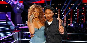 Rihanna and Pharrell Williams on The Voice | ELLE UK