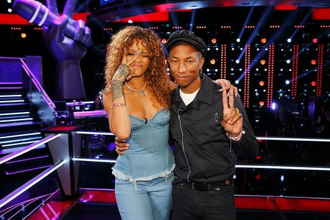 Rihanna and Pharrell Williams on The Voice | ELLE UK