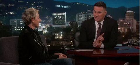 Ellen Degeneres and Channing Tatum