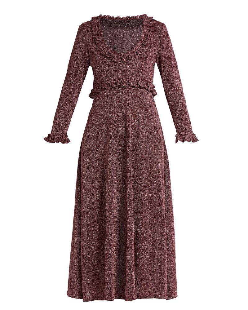 alexachung lurex dress