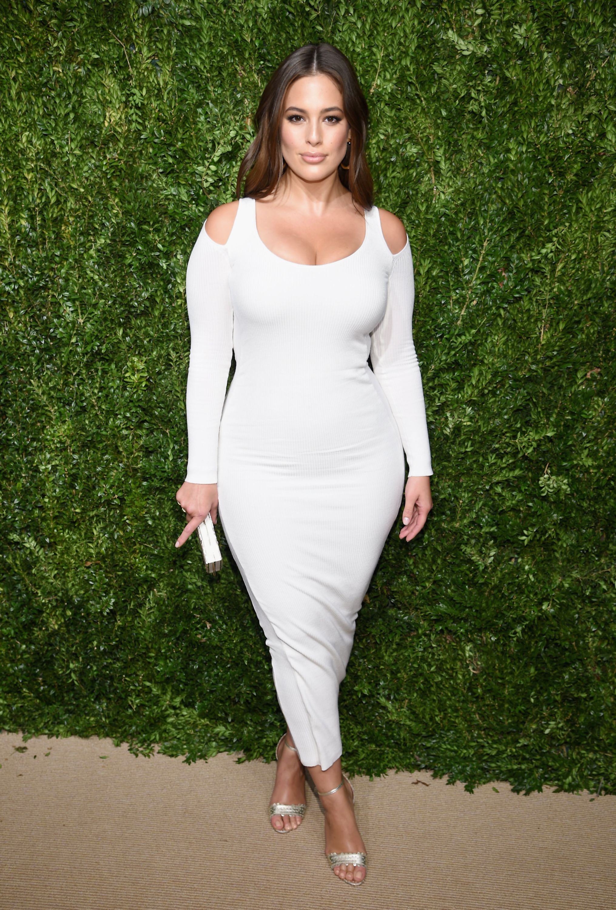 Ashley Graham Makes Fashionable Return From Maternity Leave At Fendi's SS21 Show