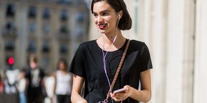Model on phone | ELLE UK
