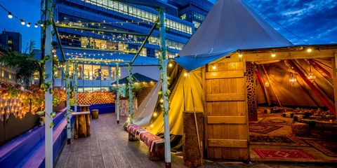 Morocco Medina pop up , The Queen of Hoxton rooftop , London
