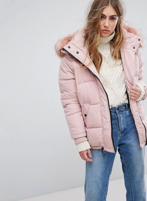 Clothing, Outerwear, Jacket, Jeans, Skin, Coat, Pink, Beauty, Blond, Fashion,