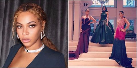 Beyonc kelly rowland and more brought their fashion a game to serena williams wedding guests elle uk freerunsca Images