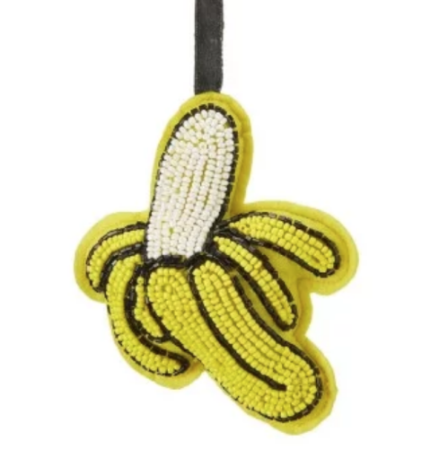 Beaded Banana Christmas Decoration