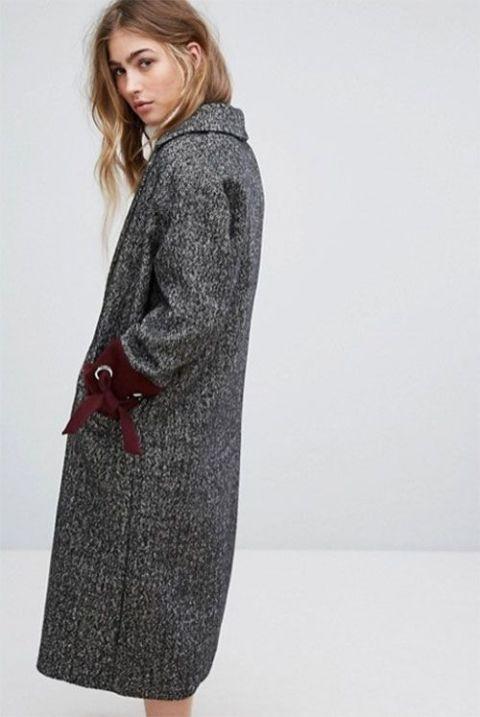 Clothing, Outerwear, Overcoat, Coat, Trench coat, Sleeve, Pocket, Neck, Dress, Robe,