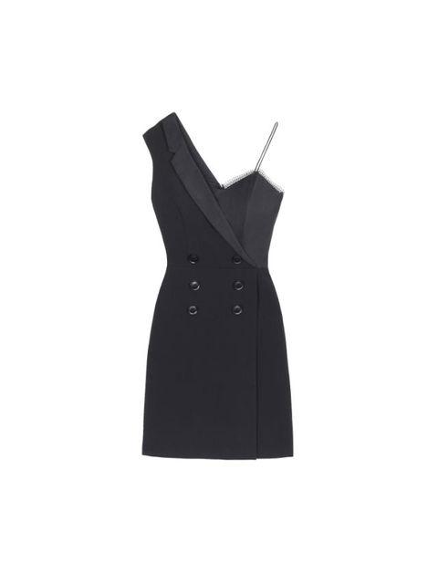 best party dresses 2017 - black three floor tuxedo dress
