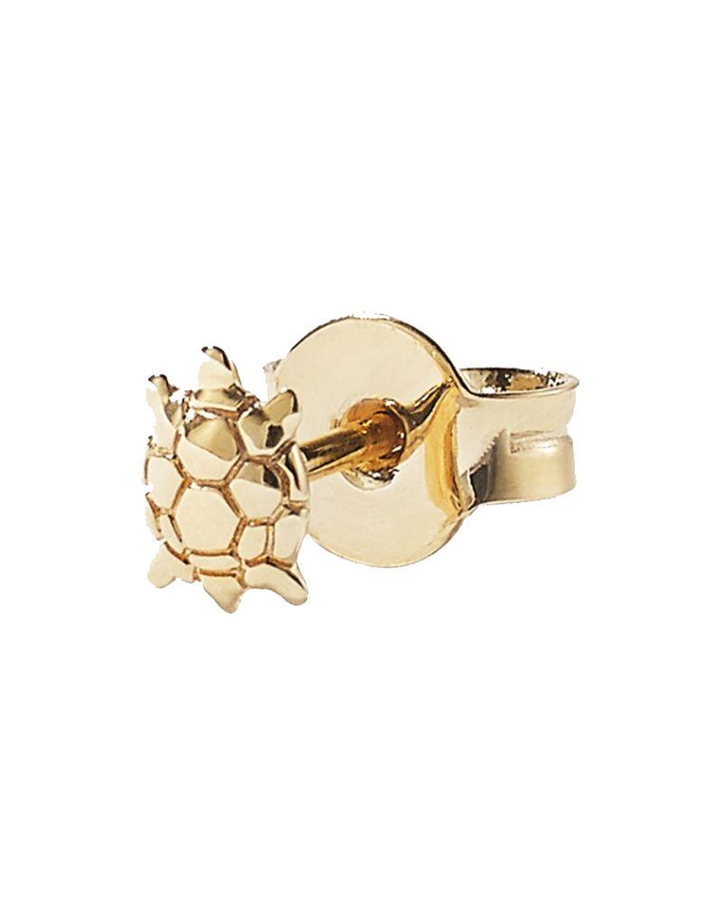 Loquet turtoise gold stud earring