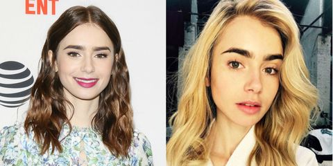Lily Collins Blonde Hair
